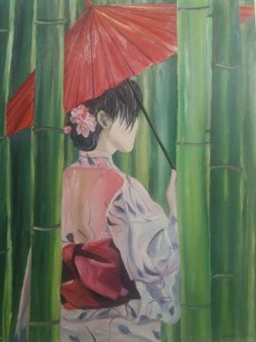 GUILBERT-PARIS Clayre Dans une bambouseraie