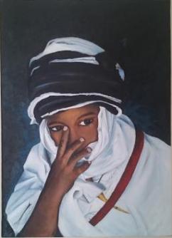 MAURENT Marie-Aude Tarek Huile sur toile 33x46