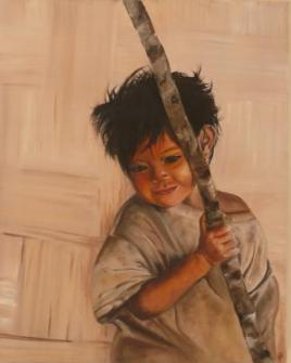 MAURENT Marie-Aude Lang Huile sur toile 33x41