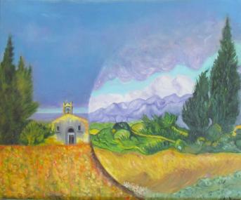 Paysage Van Gogh Huile sur toile 8 paysage