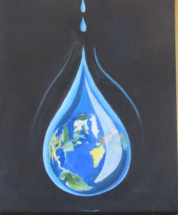 Bijou d'eau huile sur toile 33x46 Paysage