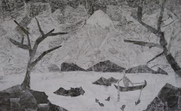 fresque par collage