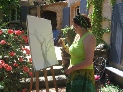 Violaine sur l'olivier